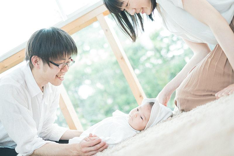 お宮参り、ゆいとくん!家族写真
