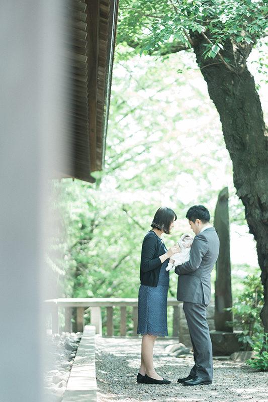 お宮参り、宇都宮二荒山神社!さくらちゃん、家族写真
