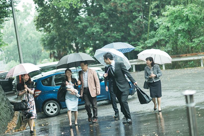 お宮参り、宇都宮二荒山神社ロケ!雨の日だけどるんるん