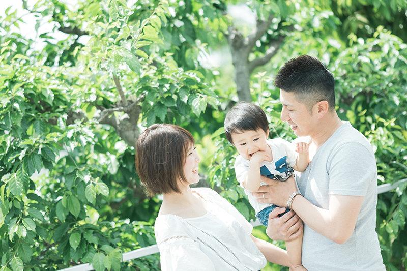 バースデーフォト、かいとくん!家族写真