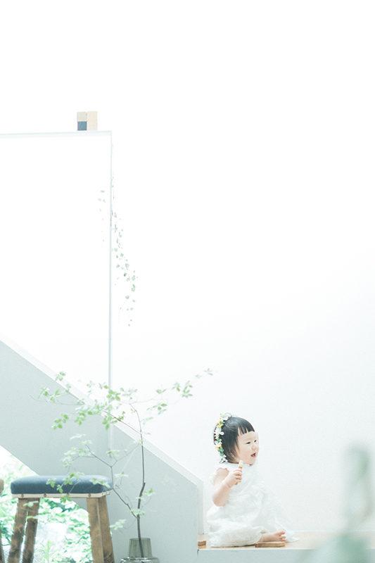 バースデーフォト、ゆいちゃん!ナチュラルな花冠