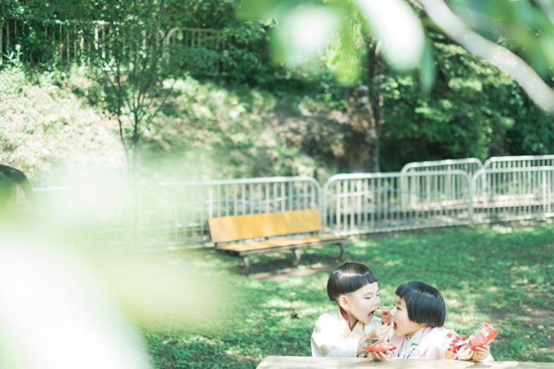 鹿沼千手山公園出張撮影、七五三!さくくん、りほちゃん!兄弟写真