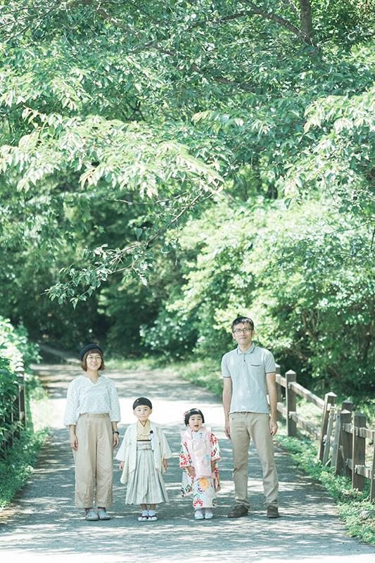 鹿沼千手山公園出張撮影、七五三!さくくん、りほちゃん!家族写真