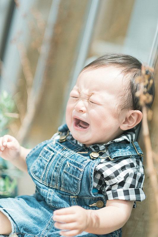 1歳バースデーフォト、いぶきくん!泣き顔