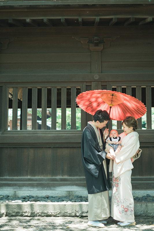 宇都宮二荒山神社、お宮参り出張撮影!ゆうくん、番傘