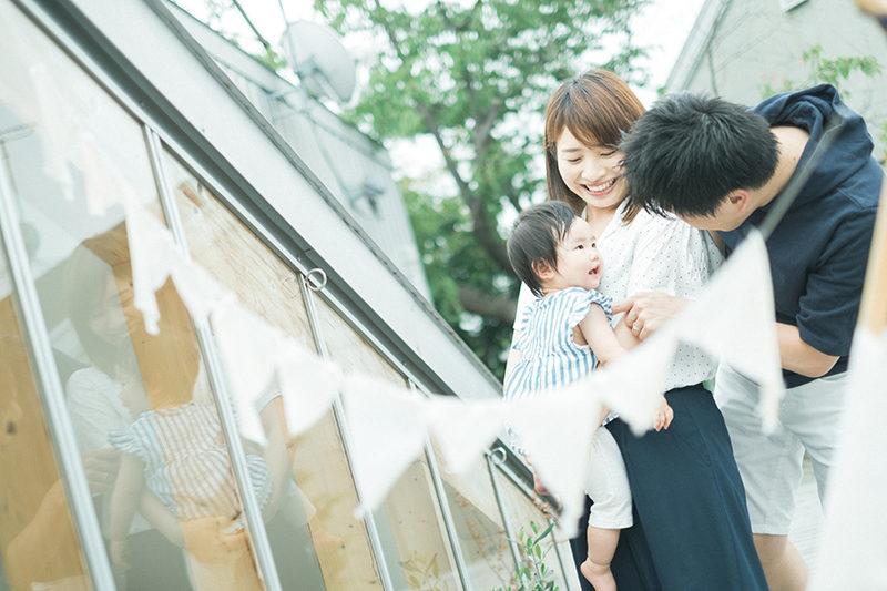 1歳バースデーフォト、ひなこちゃん!家族写真