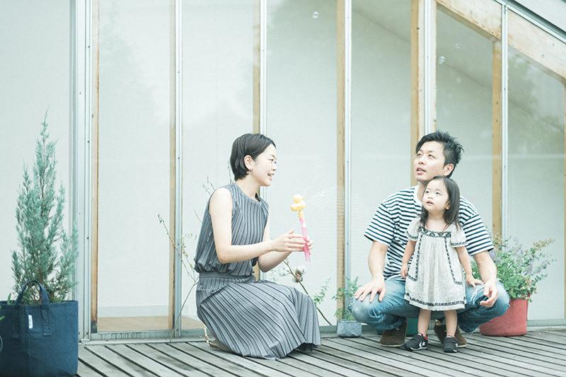2歳バースデーフォト、みわちゃん!家族写真
