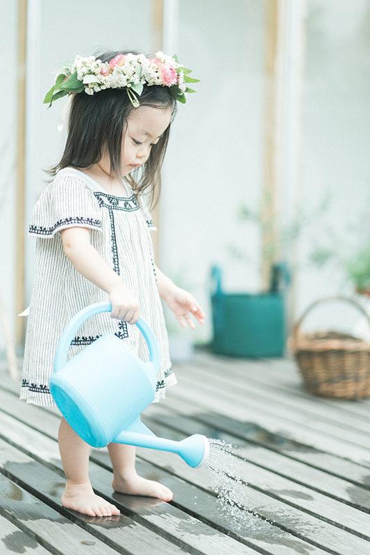 2歳バースデーフォト、みわちゃん!水遊び