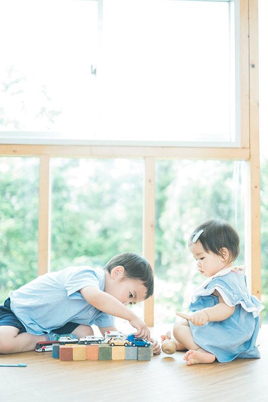 1歳バースデーフォト、兄弟写真