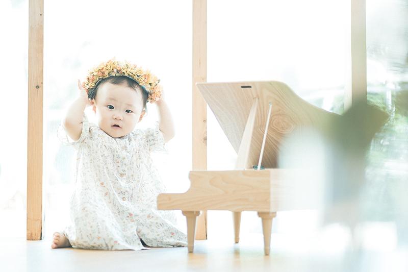 1歳バースデー、つむぎちゃん!花冠