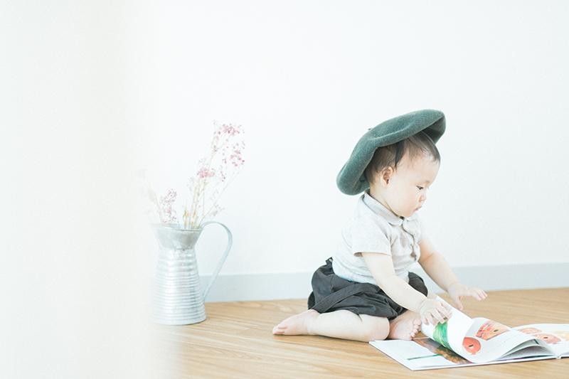 1歳バースデー、つむぎちゃん!読書