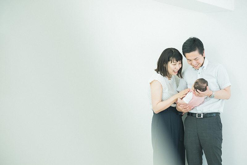お宮参り、あかりちゃん!家族写真