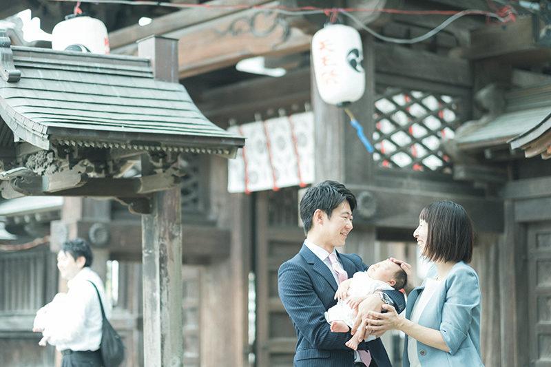 宇都宮二荒山神社、お宮参り出張撮影、はるくん!家族写真