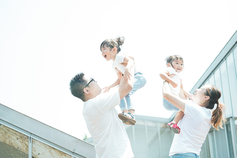 3歳七五三、あおいちゃん!家族写真