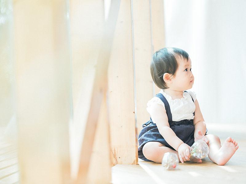 1歳バースデーフォト、まおちゃん!お洒落