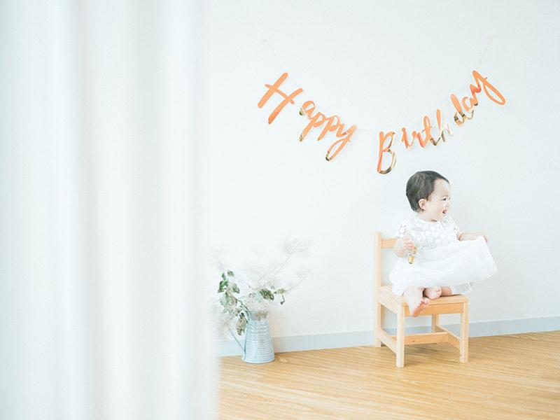 1歳バースデーフォト、こうちゃん!お洒落さん