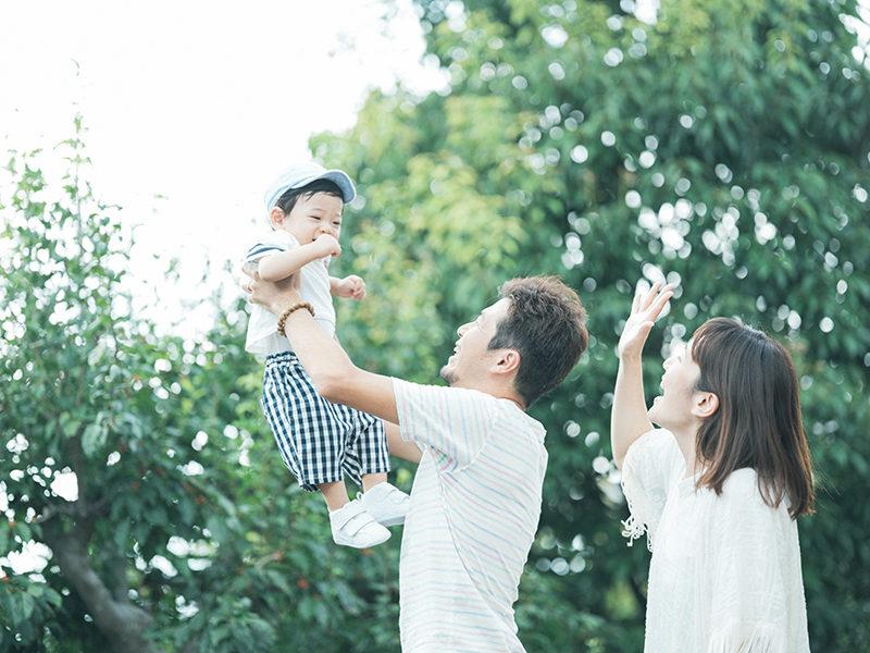 1歳バースデーフォト、そうすけくん!家族写真