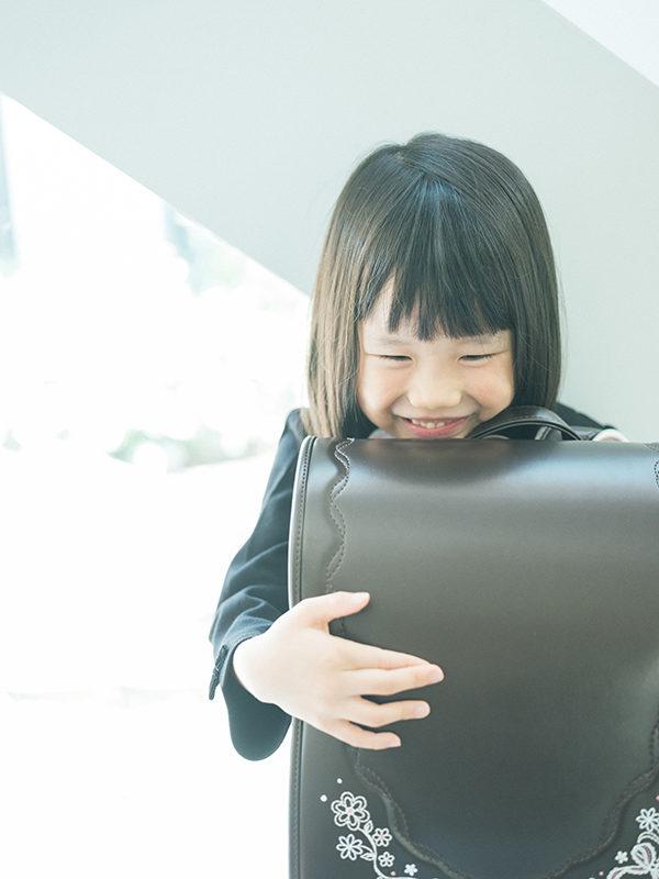 入学記念、きらりちゃん!ランドセル