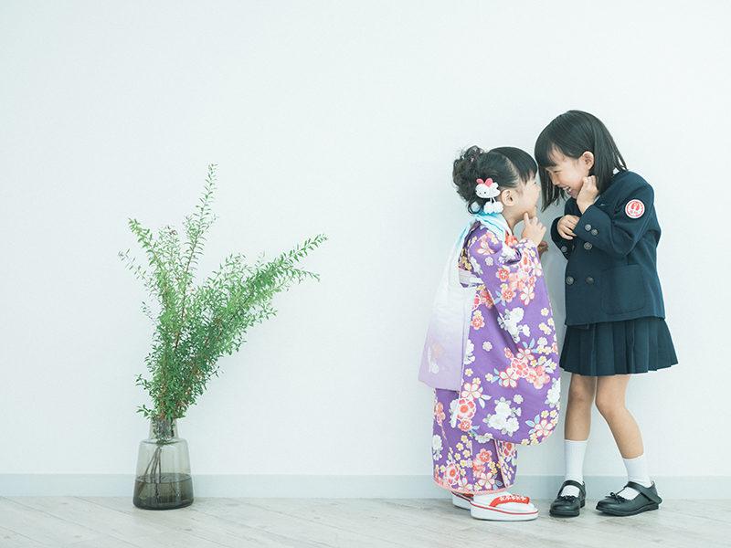 入学記念、きらりちゃん!3歳七五三、あかりちゃん!