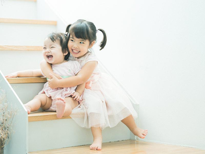 1歳バースデーフォト、すずえちゃん!姉妹写真