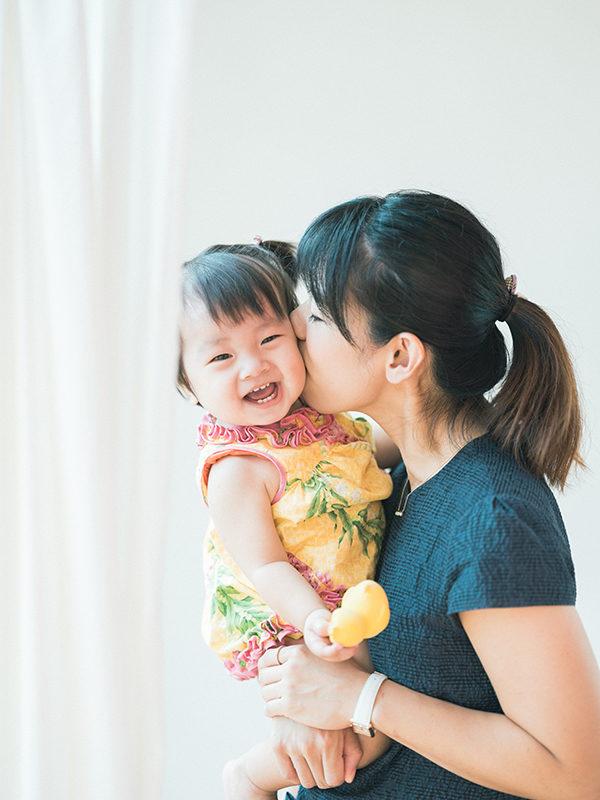 1歳バースデーフォト、すずえちゃん!ママと