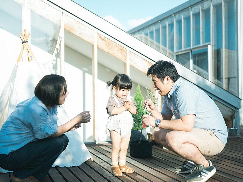 2歳、バースデーフォト、つむぎちゃん!家族写真