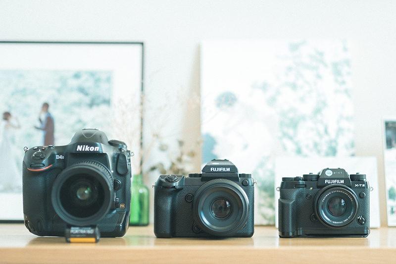 NIKON D4S,FUJIFILM GFX50S and X-T2