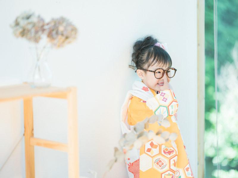 3歳七五三、みりちゃん!眼鏡