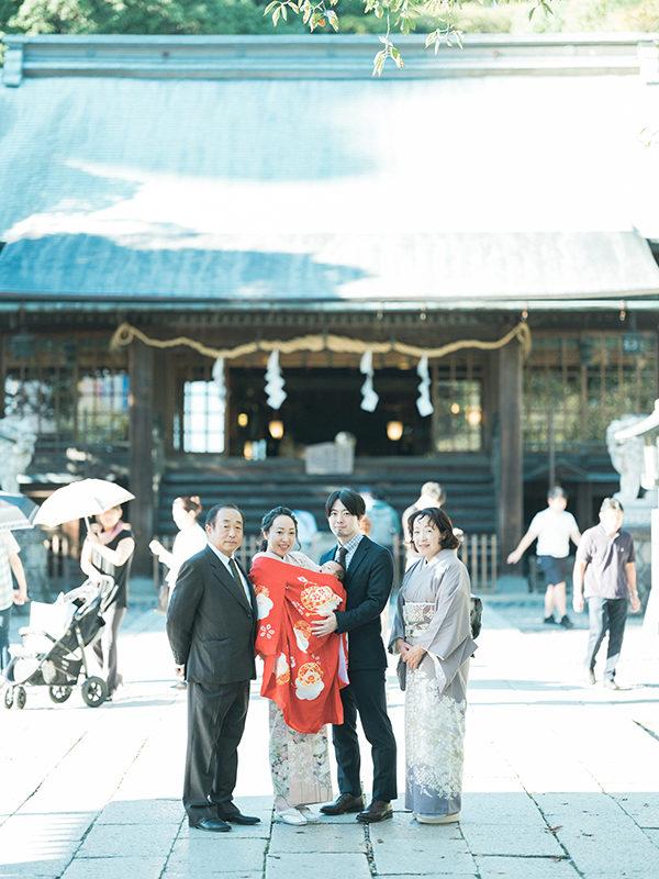 宇都宮二荒山神社、お宮参り出張ロケーション撮影、さらちゃん!集合写真