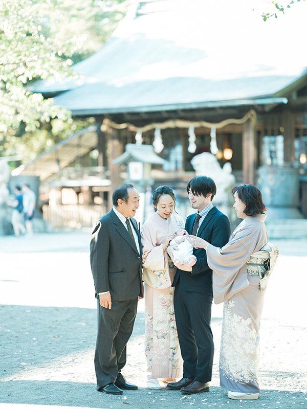 宇都宮二荒山神社、お宮参り出張ロケーション撮影、さらちゃん!家族写真、集合