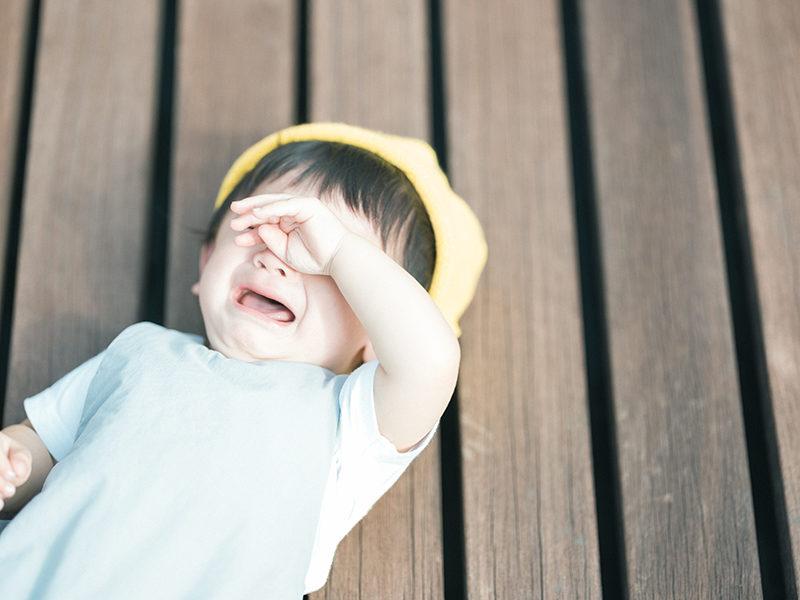 1歳バースデーフォト、こうちゃん!泣き顔