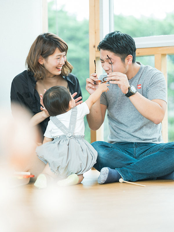 1歳バースデーフォト、こうちゃん!家族写真