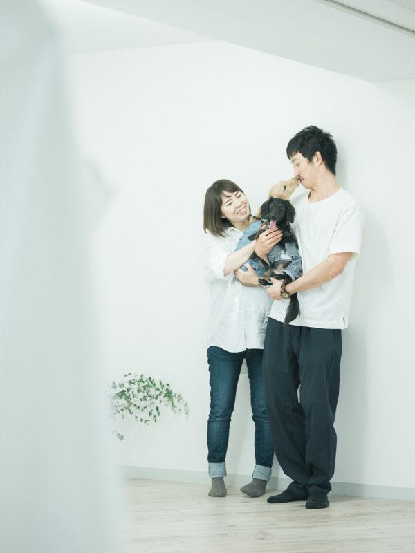 マタニティフォト!愛犬と家族写真
