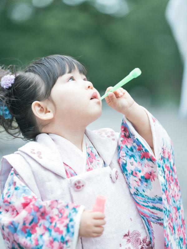 那須乃木神社、3歳七五三、うららちゃん!
