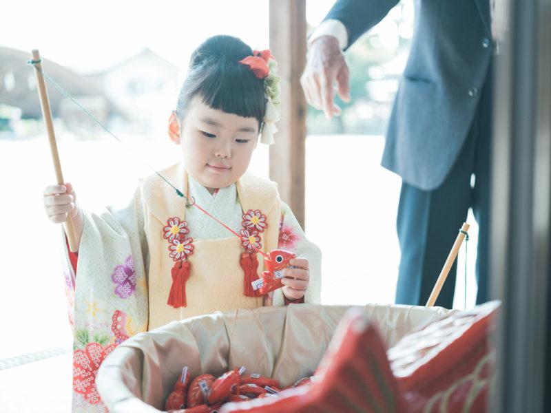 白鷺神社、3歳七五三、ふみちゃん!おみくじ