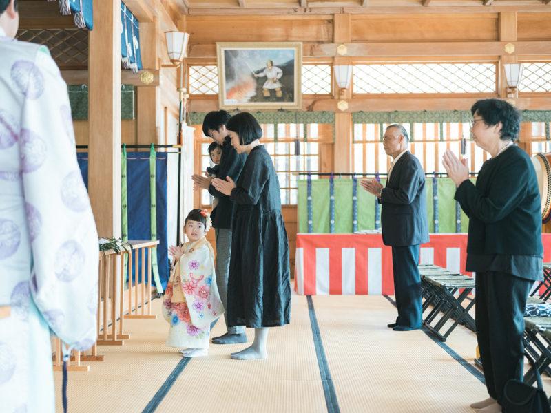 白鷺神社、3歳七五三、ふみちゃん!ご祈祷