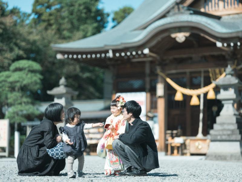 白鷺神社、3歳七五三、ふみちゃん!家族写真