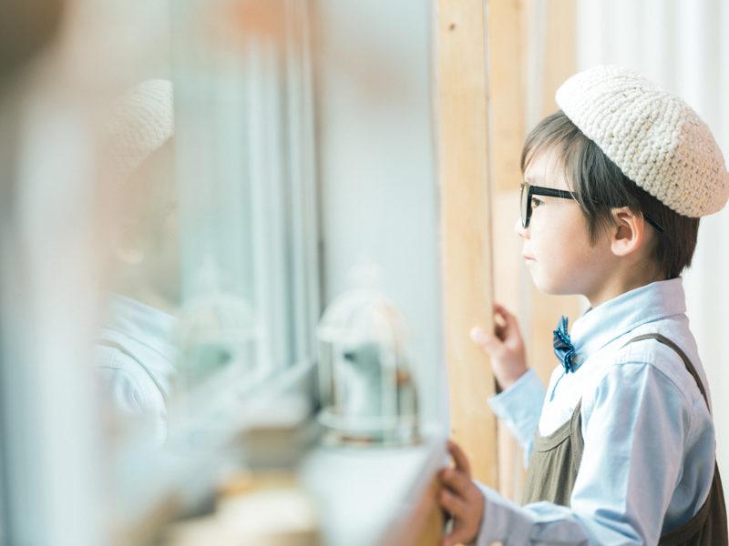 5歳七五三、あおいくん!可愛い帽子