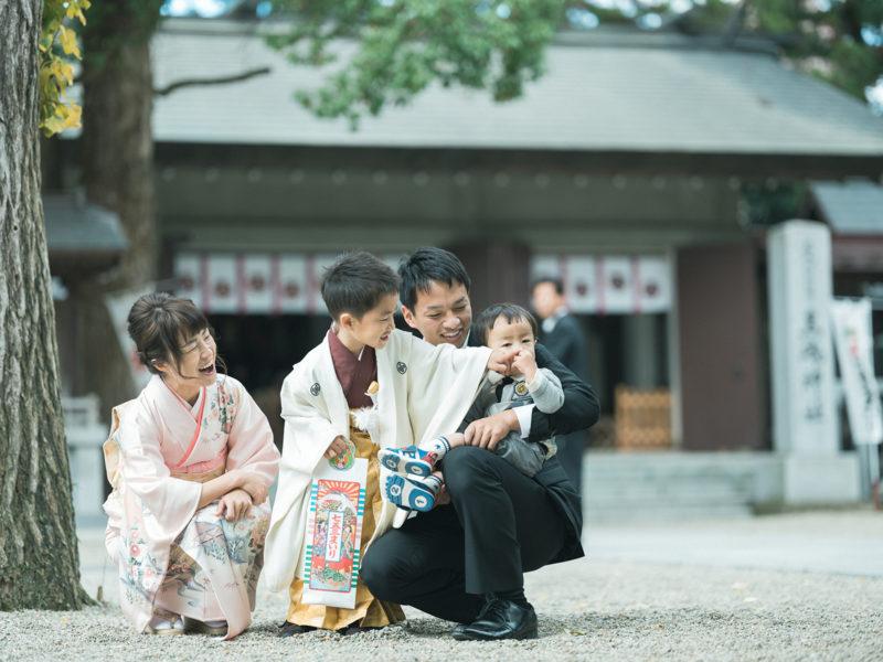 那須、黒磯神社、出張撮影、5歳七五三!あっくん。家族写真