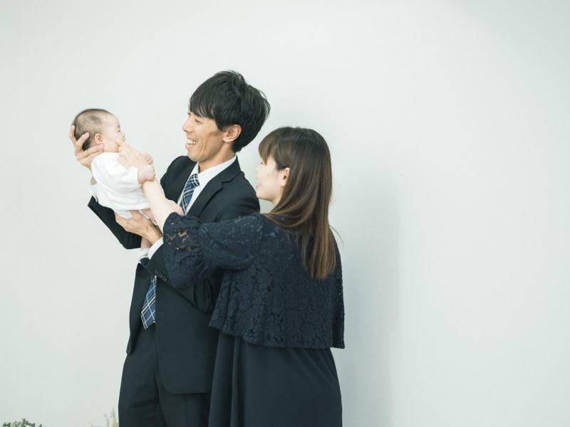 お宮参り、ゆのちゃん!家族写真