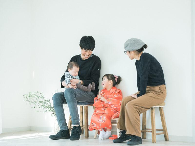 3歳七五三、ひまりちゃん!家族写真