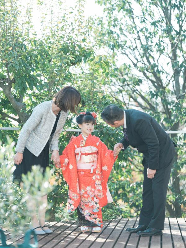 7歳七五三、あやみちゃん!家族写真