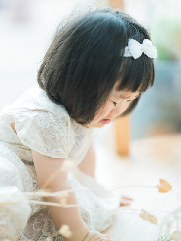 1歳バースデーフォト、かほちゃん!泣き顔