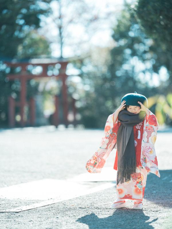 真岡市大前神社、3歳七五三、まいこちゃん!お洒落さん