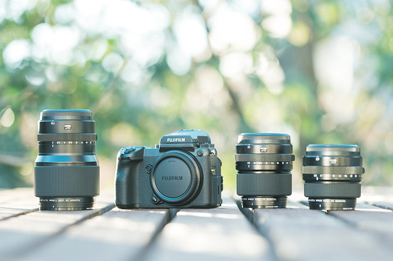 FUJIFILM GFX50S、GF45mm、GF63mm、GF110mm