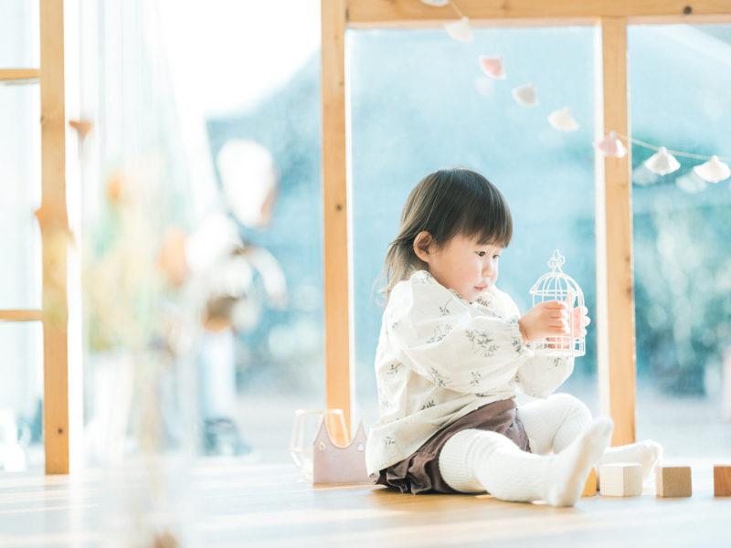 1歳バースデーフォト、すいちゃん!