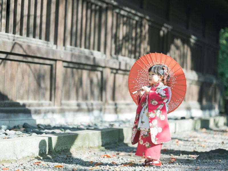 宇都宮二荒山神社、出張撮影、わかちゃん!3歳七五三、番傘