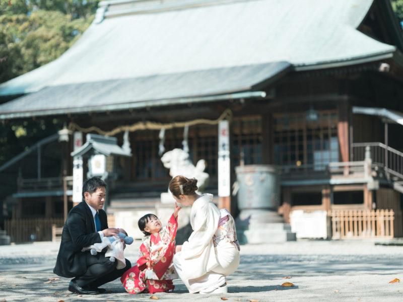 宇都宮二荒山神社、出張撮影、わかちゃん!3歳七五三、家族写真