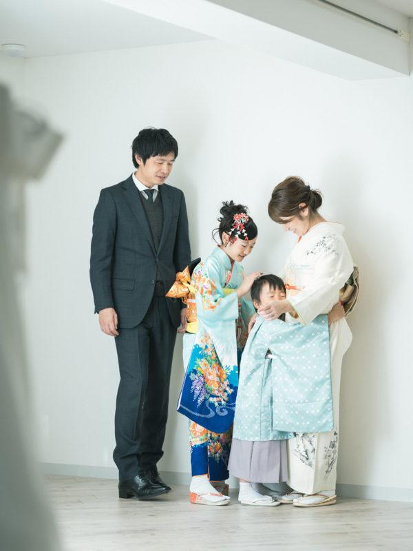 5歳七五三、あっくん!家族写真