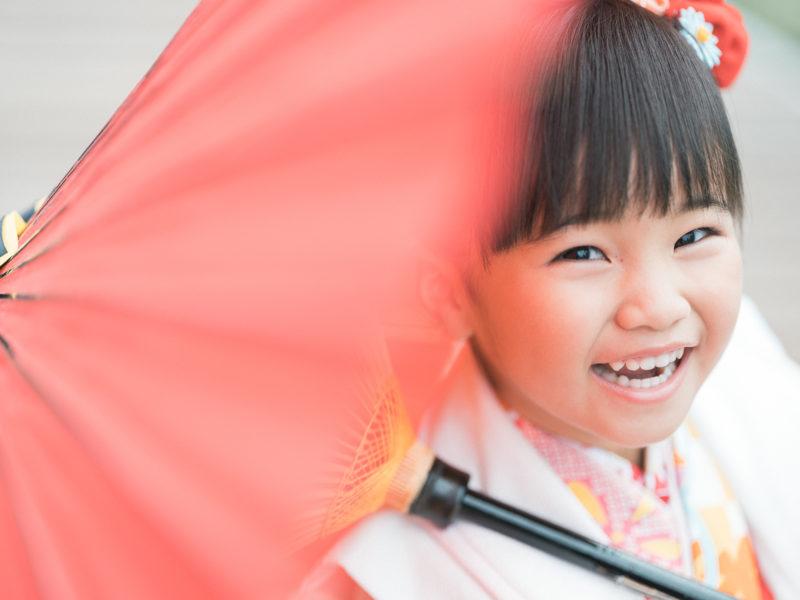 3歳七五三、ひろかちゃん!番傘